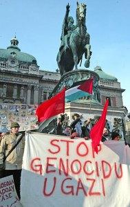 Beograd: protest protiv pokolja u Gazi