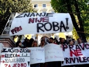 Studentski protest u Hrvatskoj