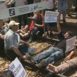 Radnička blokada u Lapovu